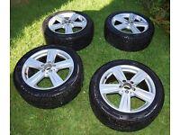 "Mercedes E-Class 17"" Winter Tyres and Alloys - 245/45 R17"