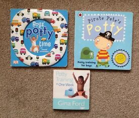 boy potty training books bundle pirate pete, potty training in one week very good condition