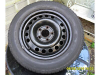 2 x Vauxhall 195 x 60 x 15 steel wheels and tyres like new condition (Bath)