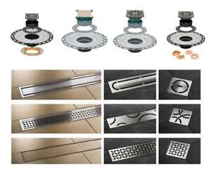 Schluter Kerdi Grate Assembly & Linear Drain Kit ABS /PVC All Models / Types KD2 /KD3 /KDAR /KDA /Pure /Curve /Floral