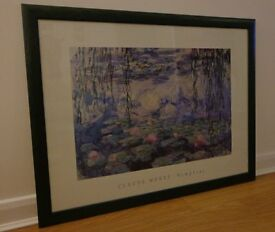 Large Framed Claude Monet Nypheas (Waterlilly) Print
