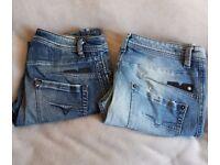 2 diesel darron jeans w29 l28 and w30 l28