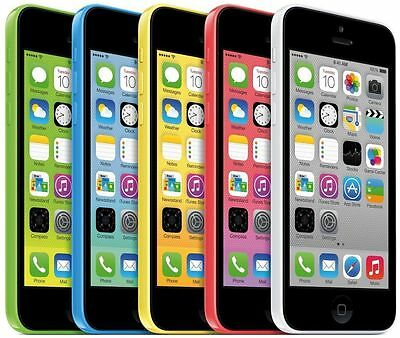 SELLER REFURBISHED APPLE IPHONE 5C - 8GB 16GB 32GB - UNLOCKED SIM FREE SMARTPHONE VARIOUS COLOURS