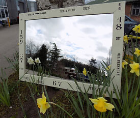 Painted Shabby Chic Stenciled Wall Mirror