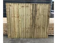 🦔 HEAVY DUTY TANALISED WOODEN STRAIGHT TOP GARDEN FENCE PANELS