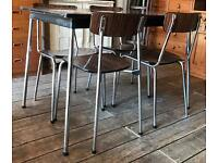 Two 'Tavo' Retro Dining Tables With 5 Chairs & 5 Stools- Cafe / Bar/Home
