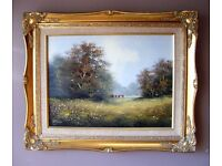 Beautiful quality Original signed oil painting by popular listed artist Les Parsons rural scene
