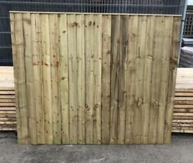 🦋 Pressure Treated Vertical Board Straight Top Wooden Garden Fence Panels
