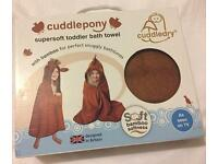 New Cuddledry Cuddlepony Toddler Hooded Towel Bath Swim RRP £34.99 unwanted gift