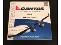RARE Qantas Boeing 747-400 diecast model for sale  Gildersome, West Yorkshire