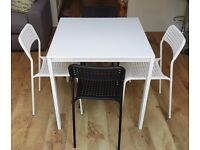 Small Ikea kitchen/dining table and chairs, available separately or together