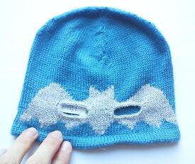Oeuf Baby Alpaca Batman Mask Hat 3-12 month