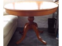 Extendable Oval Antique Pine Table