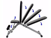 Adjustable Abdominal Incline & Decline Bench Weight Training Bench Folding Bench