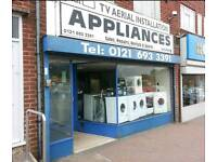 Washing machines from £89, tumble dryers, dishwashers, cookers, vacuums & refrigeration