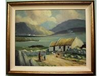 Original Oil on Canvas Painting IRISH COTTAGE by Irish Artist FRANK MCKEOWN