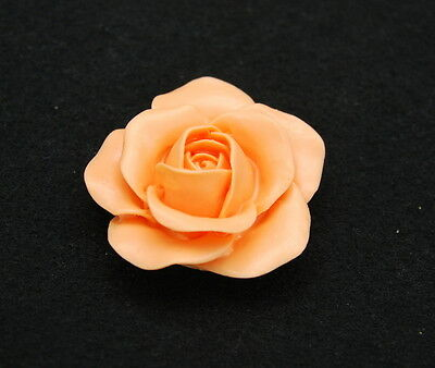 Candle Rose M, Silicone Mold Chocolate Polymer Clay Jewelry Soap Wax Resin