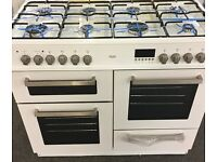 Range gas cooker 8hob duel fuel 100cm