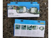 Two 'Ring' Clearview Towing Mirrors BNIB