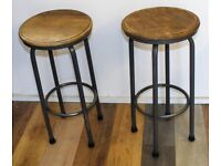 10 Available grey Kitchen Lab School Stools bar Industrial Metal Chairs Vintage Stacking Retro