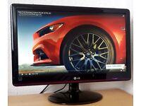 "LG 22"" Full HD 1080p LED Monitor,hdmi,vga,dvi, ideal For PC,CCTV, Gaming Computer etc..."