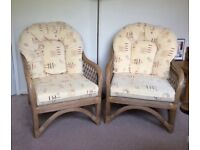 2 Quality Cane Armchairs