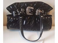 Brand New & Unused - Black Handbag with Silver/Diamante Detaailing