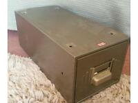 Set of four retro metal drawers