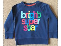 Next Boy Navy Sweatshirt 18 - 24 Months