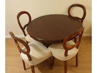 Preloved Mahogany dining table and chairs
