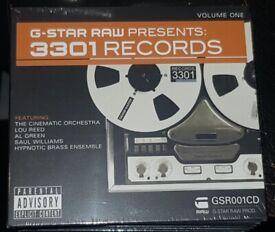 G-Star Raw Presents: 3301 Records Volume 1 CD (2008) - Brand New