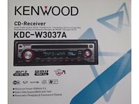 Kenwood KDC-W3037A CD Player/MP3 In Dash Receiver - Removable faceplate and Fluorescent Display