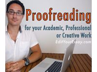 £10 Proofreading Proofreader Proofread Edit Editor Editing Academic Essay Dissertation Thesis