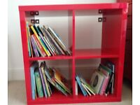 Ikea red cube storage with 1 insert