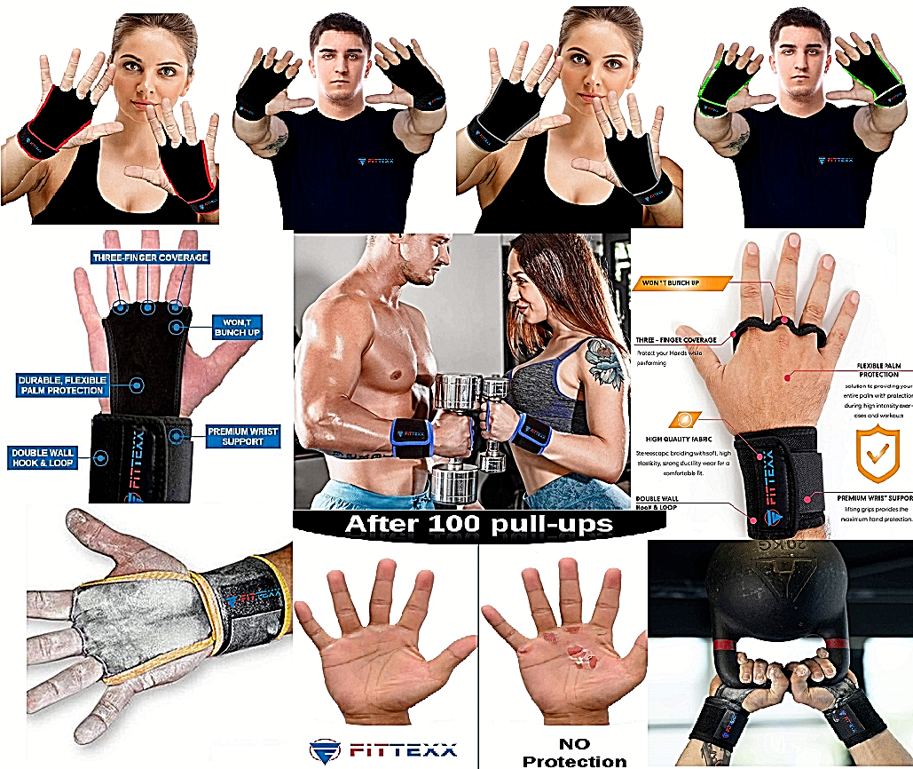 Workout Hand Grips Weightlifting Gloves Gym Premium Hand Grips Prevent Blisters Fitness Equipment & Gear