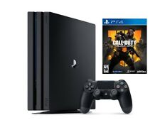Sony - PlayStation 4 Pro Console - Jet Black + Call Of Duty 4 Game NEW