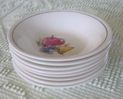 """Eight Edwin M. Knowles  5.25"""" Fruit Bowls"""