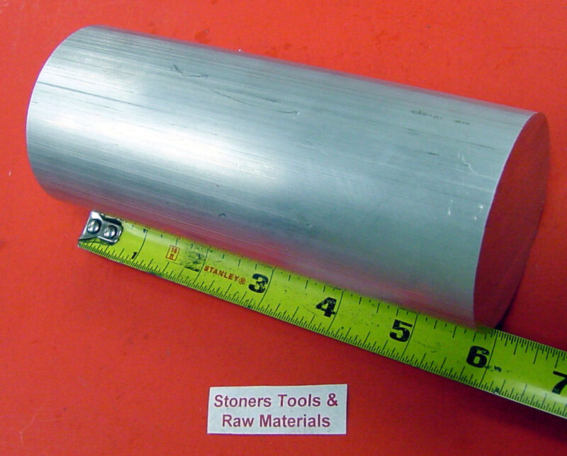 """2-1/2"""" ALUMINUM ROUND 6061 T6511 SOLID ROD 6"""" long Extruded Lathe Bar Stock"""