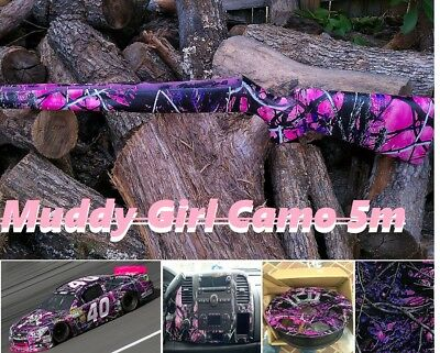 19x196 Hydrographic Film Water Transfer Printing Muddy Girl Camo Fast Shipping