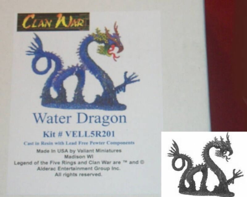 Valiant L5R UN201 Clan War Water Dragon (1) Miniature Sea Serpent Ocean Drake