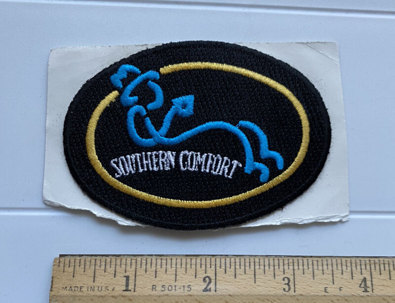 Southern Comfort Soco Whiskey Liqueur Black Embroidered Stick-on Patch Badge