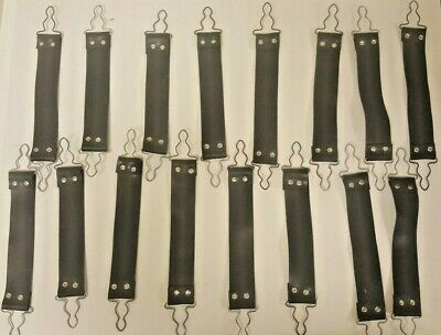 Lot Of 16 Black Rubber 8 To 9 Firefighter Suspender Straps