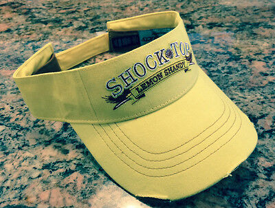 (2) Shock Top Lemon Shandy Washed Yellow Visors Brand New Free Shipping in USA