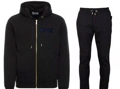 Men's Versace Jeans Couture Black Hood Tracksuit B7GUB7TK 30282 Size S M XL 2XL