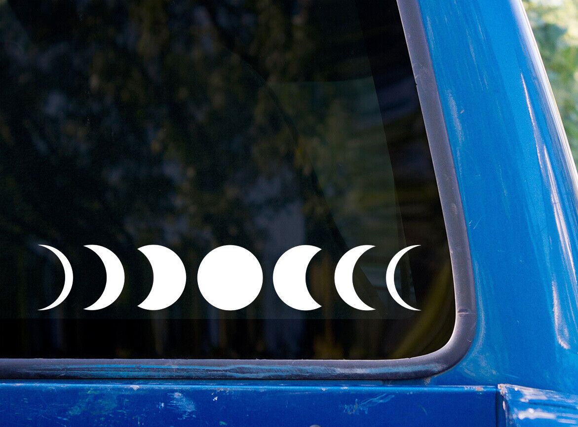 Home Decoration - Moon Phases vinyl sticker decal car window laptop full crescent minimal
