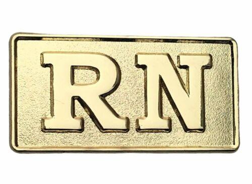 RN Registered Nurse Medical Gold Tone Hat or Lapel Pin PMS741 F5D1L