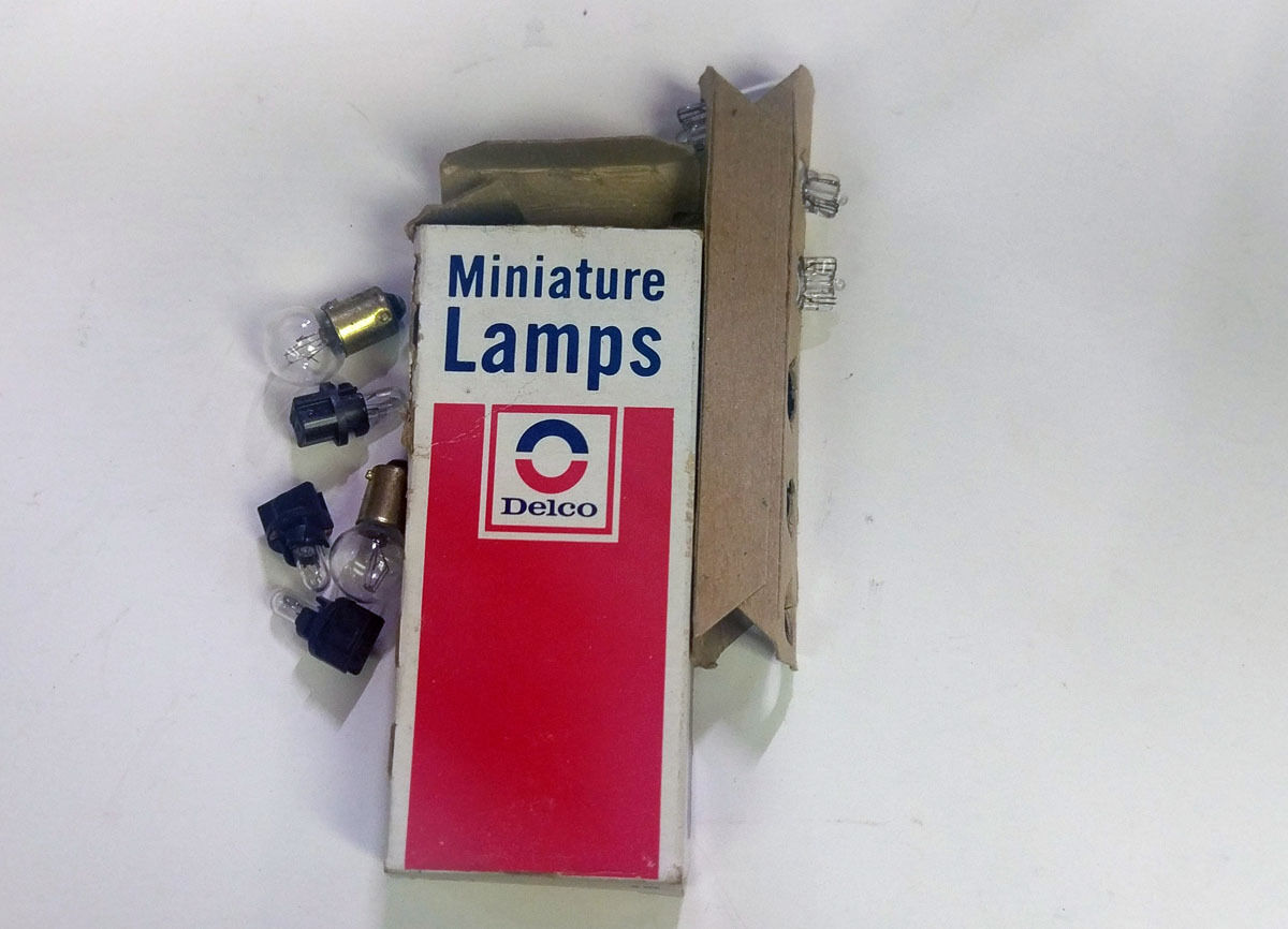 miscellaneous  illumination bulbs plus price correction for extra damage $100