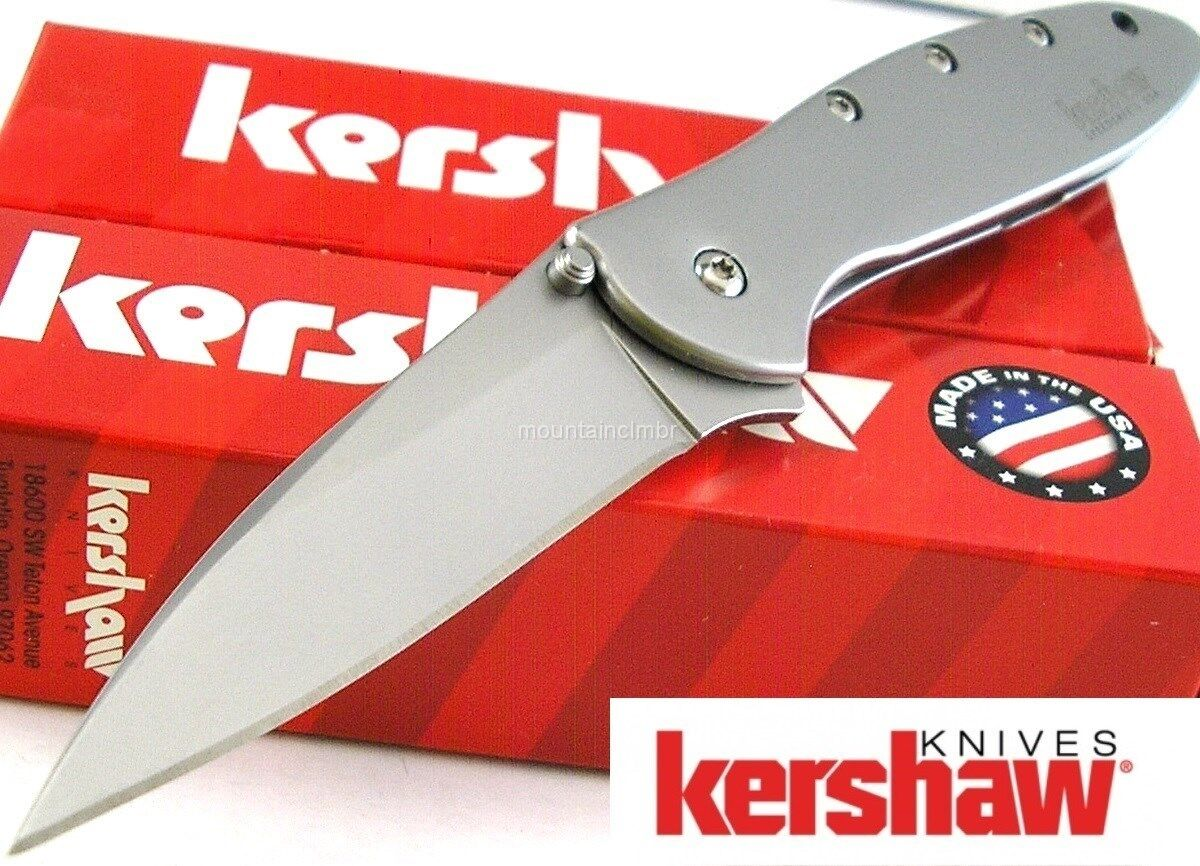 Knife - Kershaw USA Leek Speed Spring Assisted Opening Sandvik Blade Pocket Knife 1660