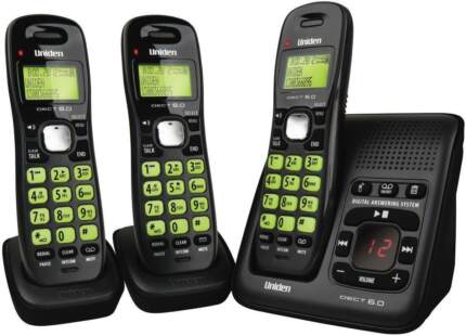 UNIDEN DECT 1635+2 DIGITAL PHONE SYSTEM WITH POWER FAILURE BACKUP