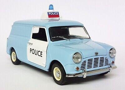 Kyosho 1/18 Scale - 08193B Austin Mini Van UK Police Diecast Model Car